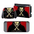 V for Vendetta design decal for Nintendo switch console sticker skin