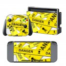 Danger Sign design decal for Nintendo switch console sticker skin
