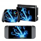 Blue Fire Trees design decal for Nintendo switch console sticker skin