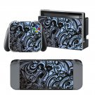 Floral Swirls design decal for Nintendo switch console sticker skin