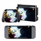 Epic face in space design decal for Nintendo switch console sticker skin