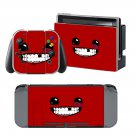 Super Meat Boy design decal for Nintendo switch console sticker skin