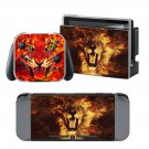 Fire Tiger design decal for Nintendo switch console sticker skin