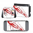 Red Blood Drops design decal for Nintendo switch console sticker skin
