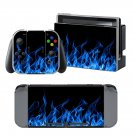 Blue Fire design decal for Nintendo switch console sticker skin