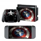 Captain America design decal for Nintendo switch console sticker skin