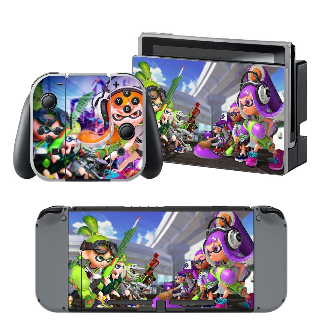 Splatoon design decal for Nintendo switch console sticker skin