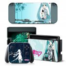 Hatsune Miku design decal for Nintendo switch console sticker skin