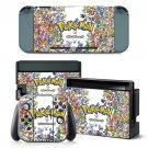 Pokemon design decal for Nintendo switch console sticker skin