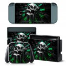 Clock Skull design decal for Nintendo switch console sticker skin
