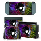 Broken Skull design decal for Nintendo switch console sticker skin