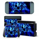 Blue ice Skull design decal for Nintendo switch console sticker skin