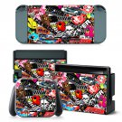 Blood Sweat Vector design decal for Nintendo switch console sticker skin