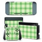 Green plaid design decal for Nintendo switch console sticker skin