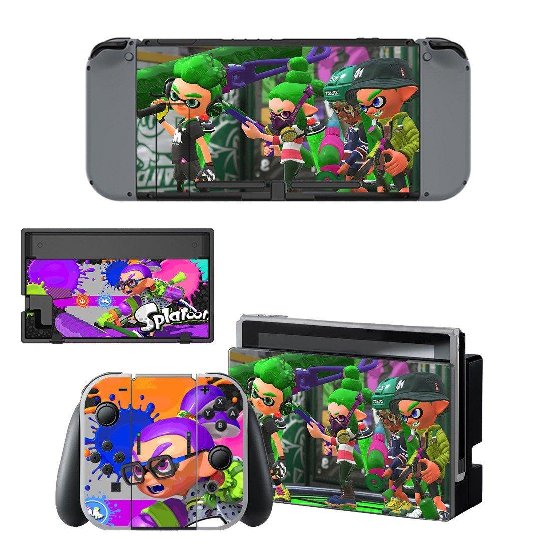 Splatoon decal for Nintendo switch console sticker skin
