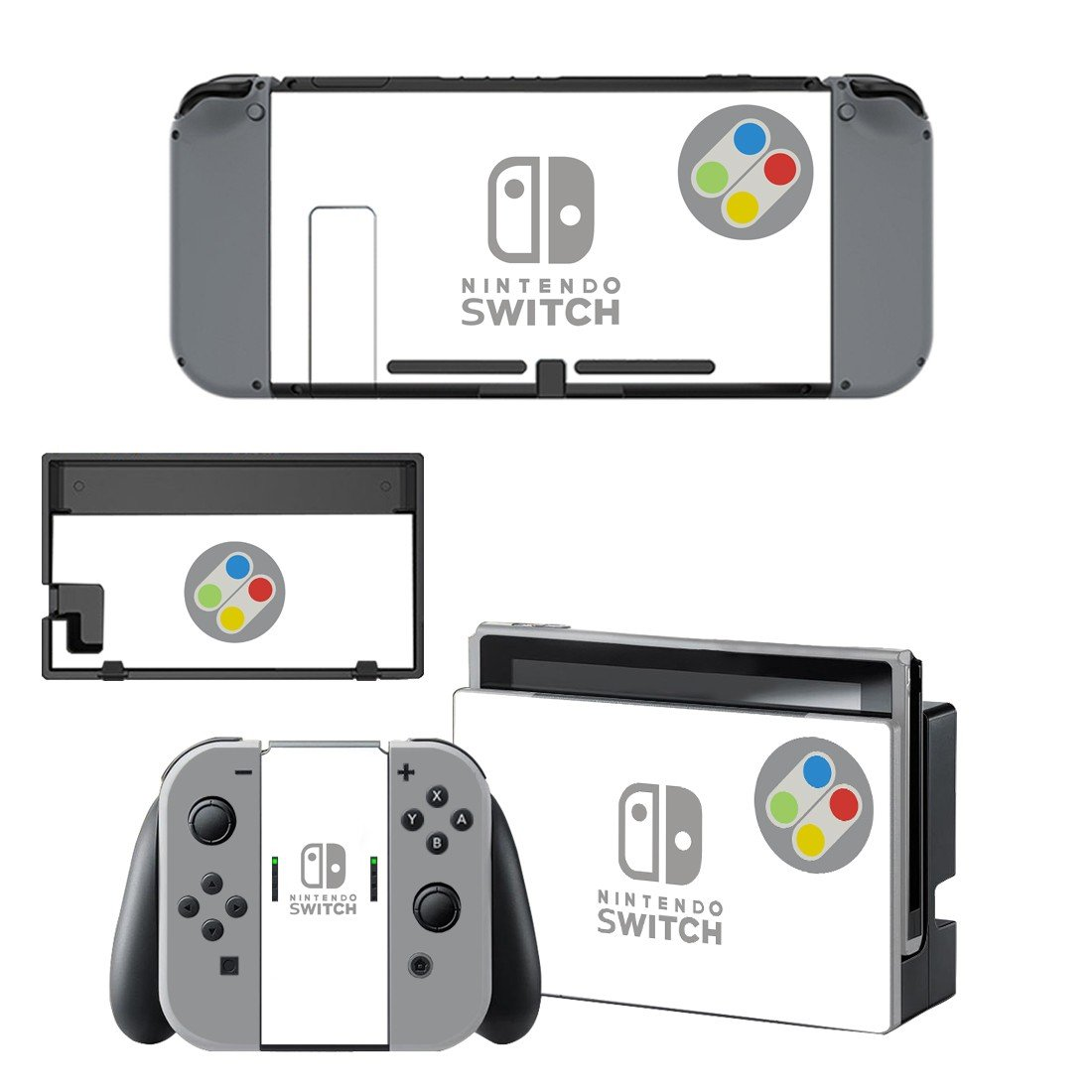 Circle decal for Nintendo switch console sticker skin