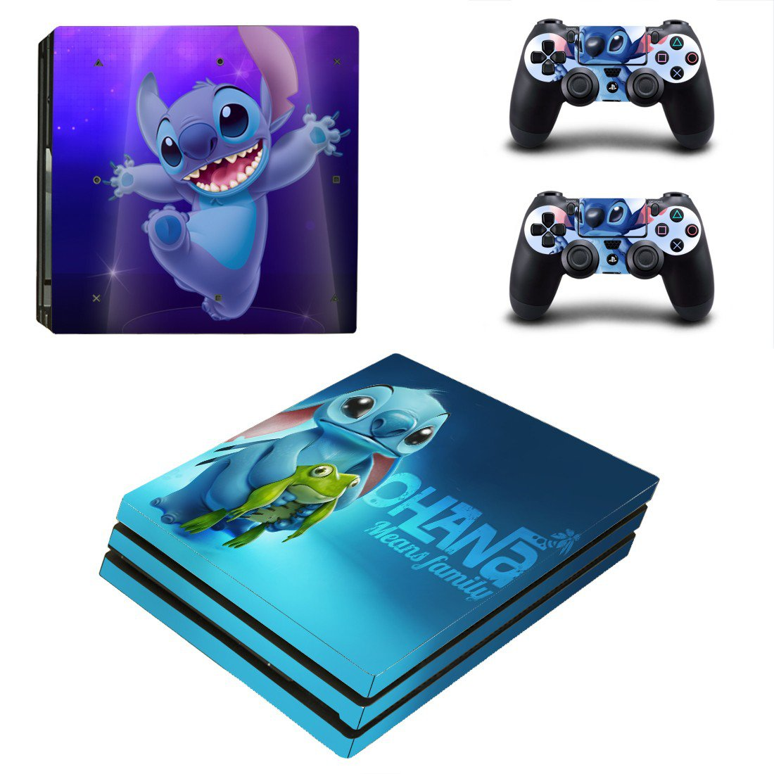 Ohana family ps4 pro skin decal for console and controllers