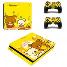 Rilakkuma ps4 slim edition skin decal for console and controllers