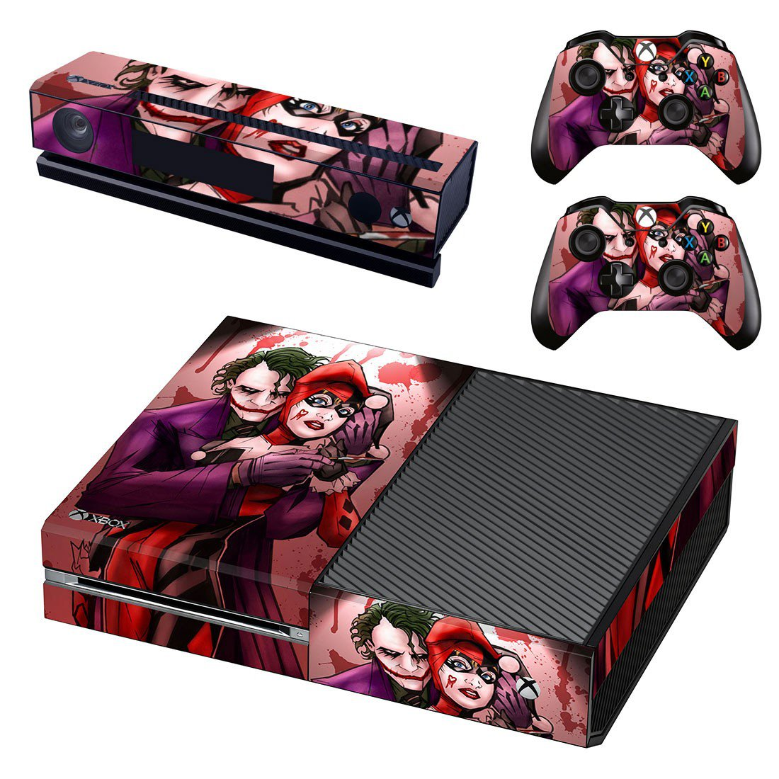 Joker & Harley Quinn skin decal for Xbox one console and controllers