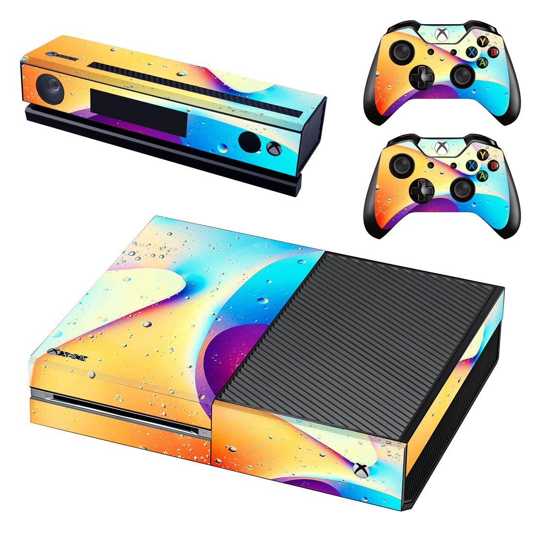 Colorful Shape skin decal for Xbox one console and controllers
