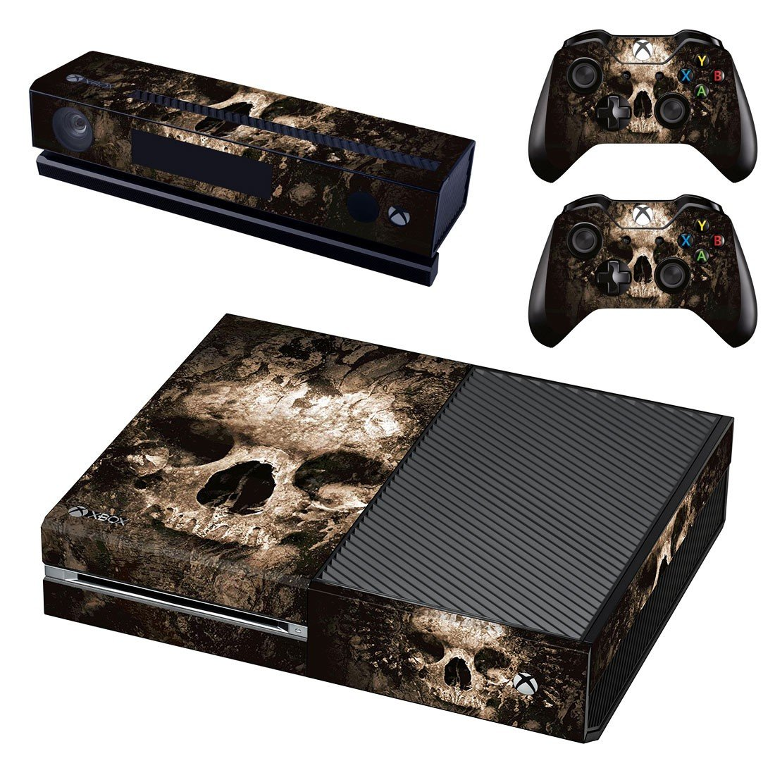 Burned Skull skin decal for Xbox one console and controllers