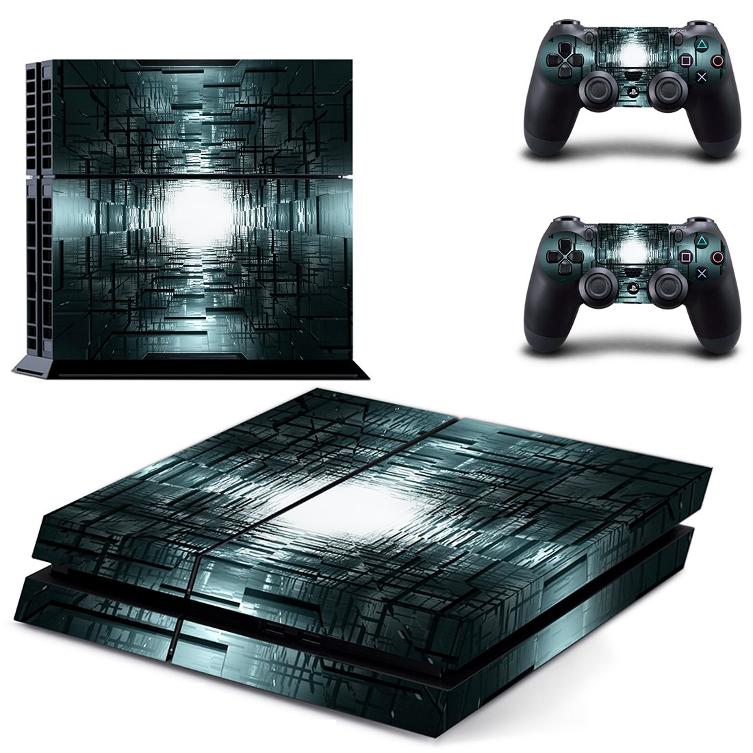 Burned Floor skin decal for PS4 PlayStation 4 console and 2 controllers