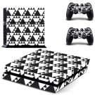 White Triangle skin decal for PS4 PlayStation 4 console and 2 controllers