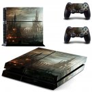 Destruction City skin decal for PS4 PlayStation 4 console and 2 controllers