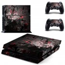 Broken Board skin decal for PS4 PlayStation 4 console and 2 controllers