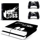 White Sketch  skin decal for PS4 PlayStation 4 console and 2 controllers
