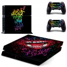 Suicider Squad skin decal for PS4 PlayStation 4 console and 2 controllers