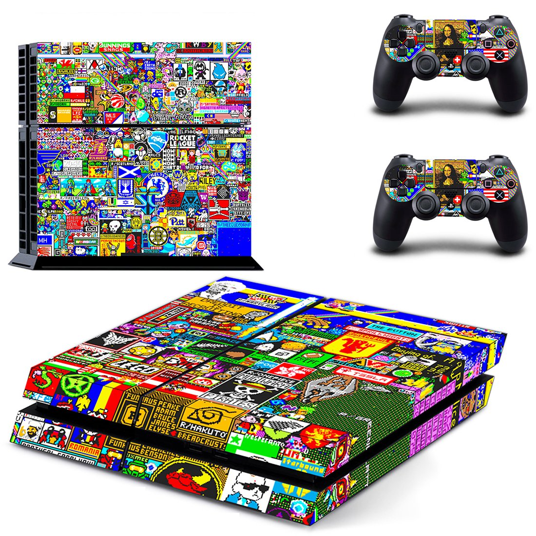Graffiti  skin decal for PS4 PlayStation 4 console and 2 controllers