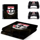 St Kilda Football Club skin decal for PS4 PlayStation 4 console and 2 controllers