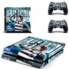 Geelong Football Club skin decal for PS4 PlayStation 4 console and 2 controllers