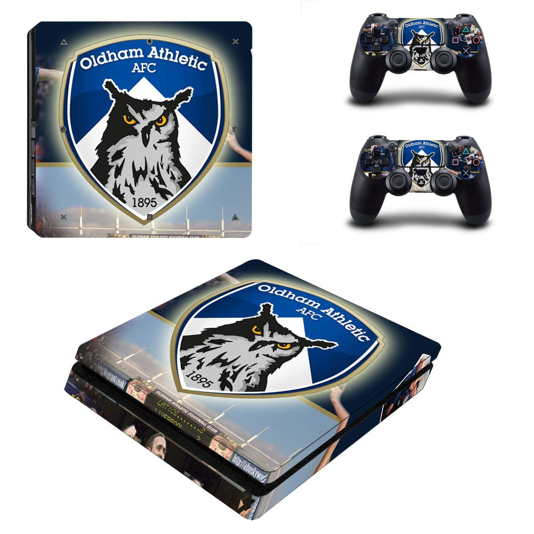 Oldham athletic AFC ps4 slim edition skin decal for console and controllers