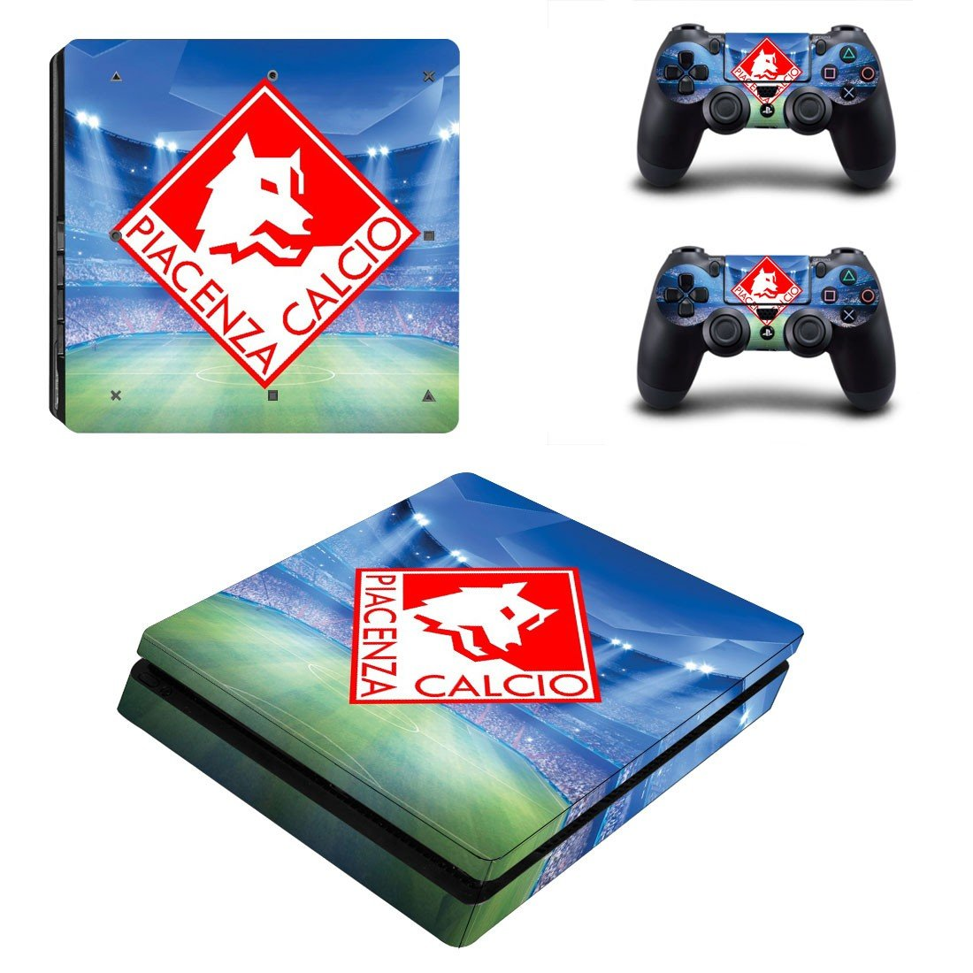 Piacenza Calcio ps4 slim edition skin decal for console and controllers