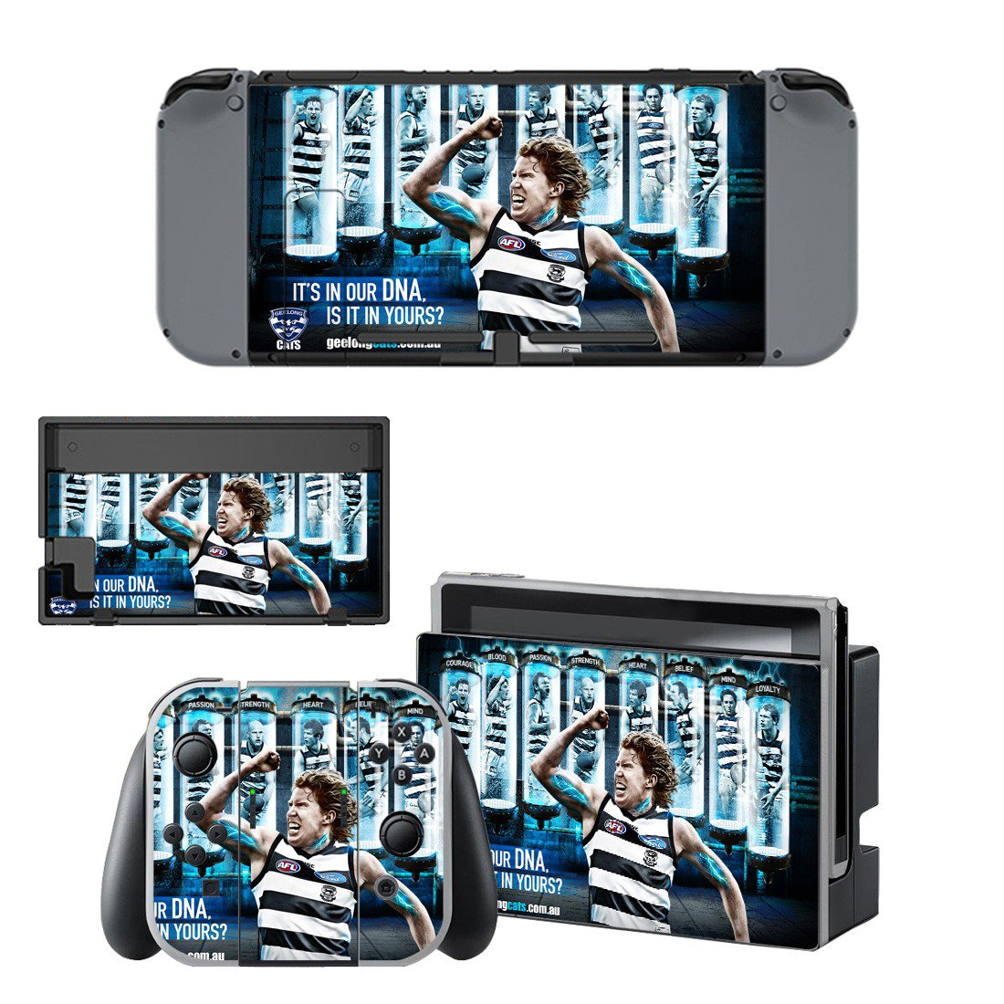 Geelong Football Club decal for Nintendo switch console sticker skin
