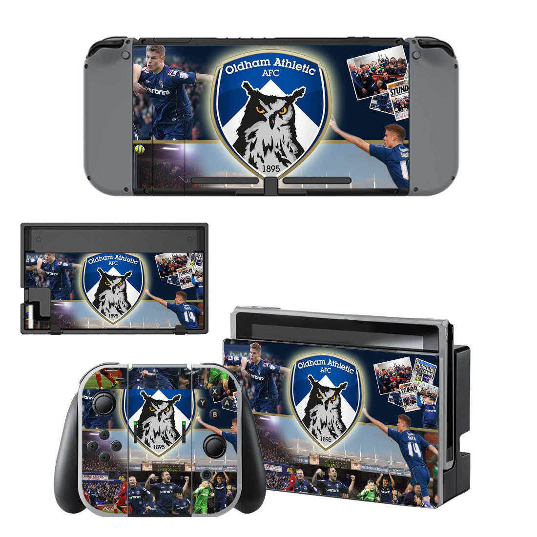 Oldham athletic AFC decal for Nintendo switch console sticker skin
