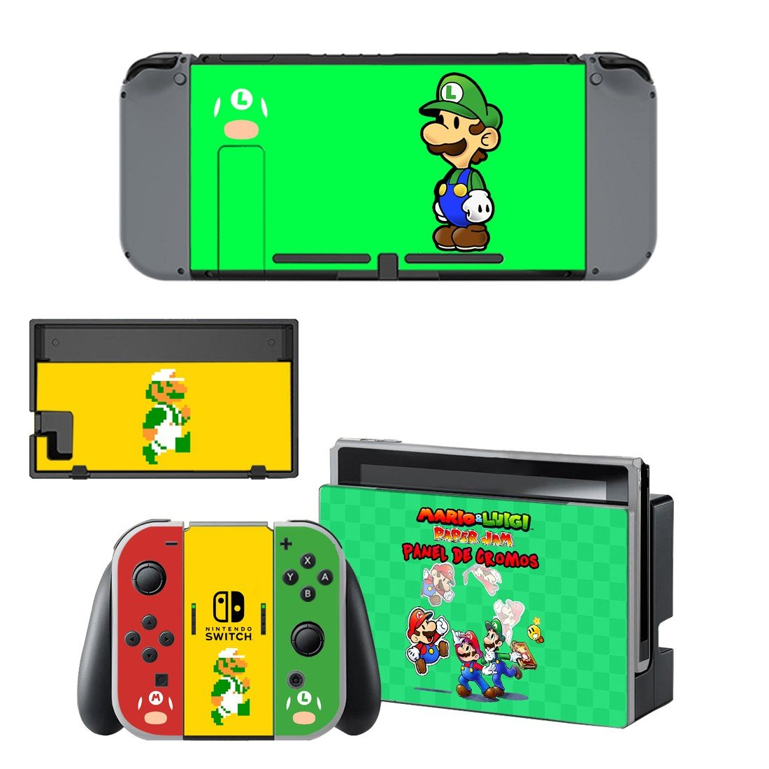 Mario & Luigi series decal for Nintendo switch console sticker skin