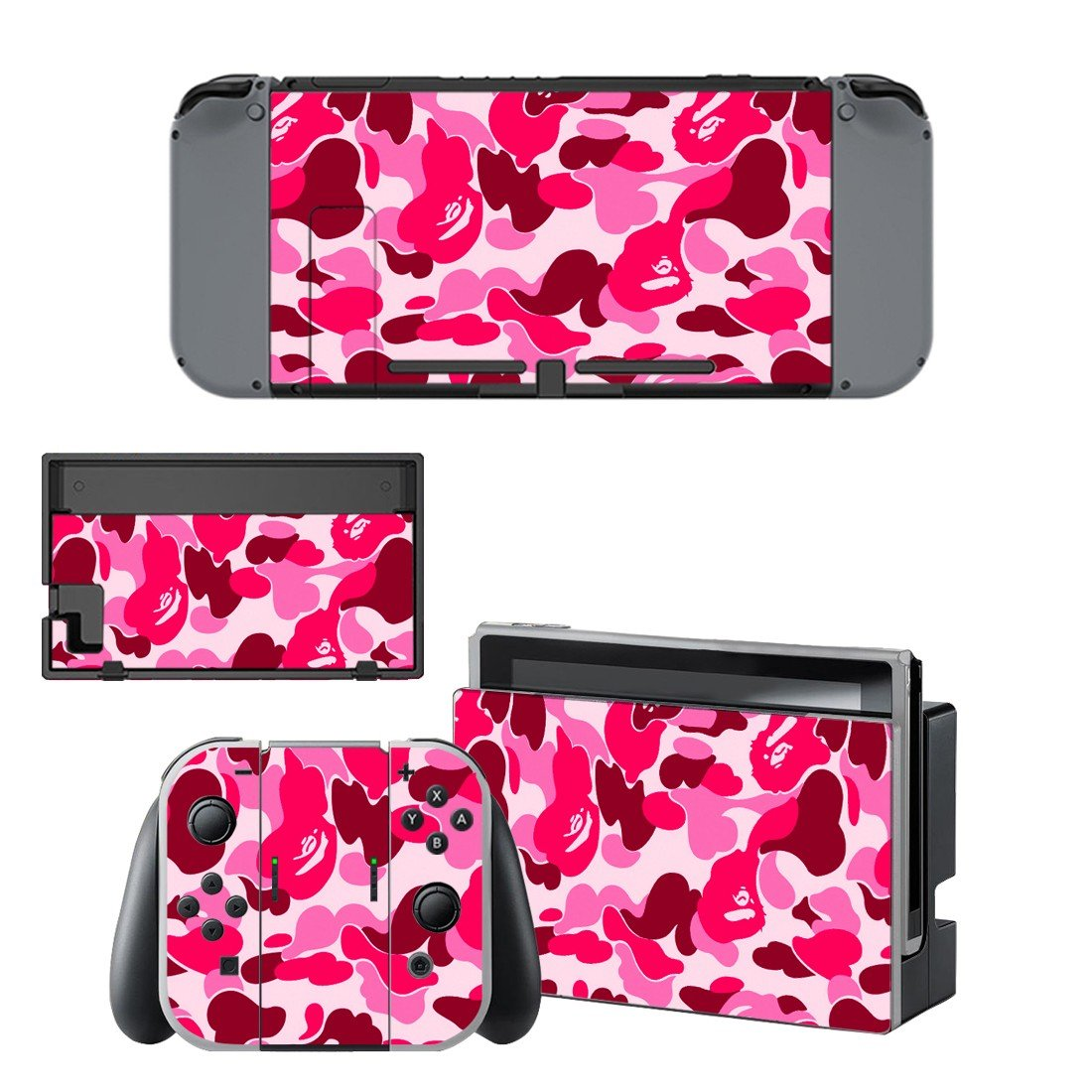 Camouflage decal for Nintendo switch console sticker skin