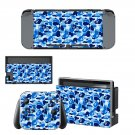 Blue Camouflage decal for Nintendo switch console sticker skin