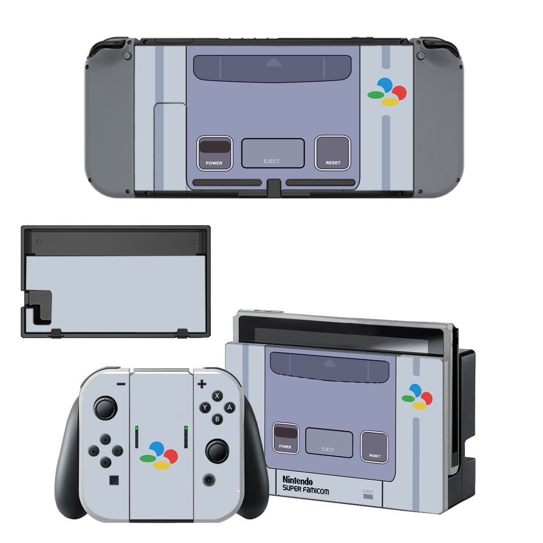 Nintendo super famicon decal for Nintendo switch console sticker skin