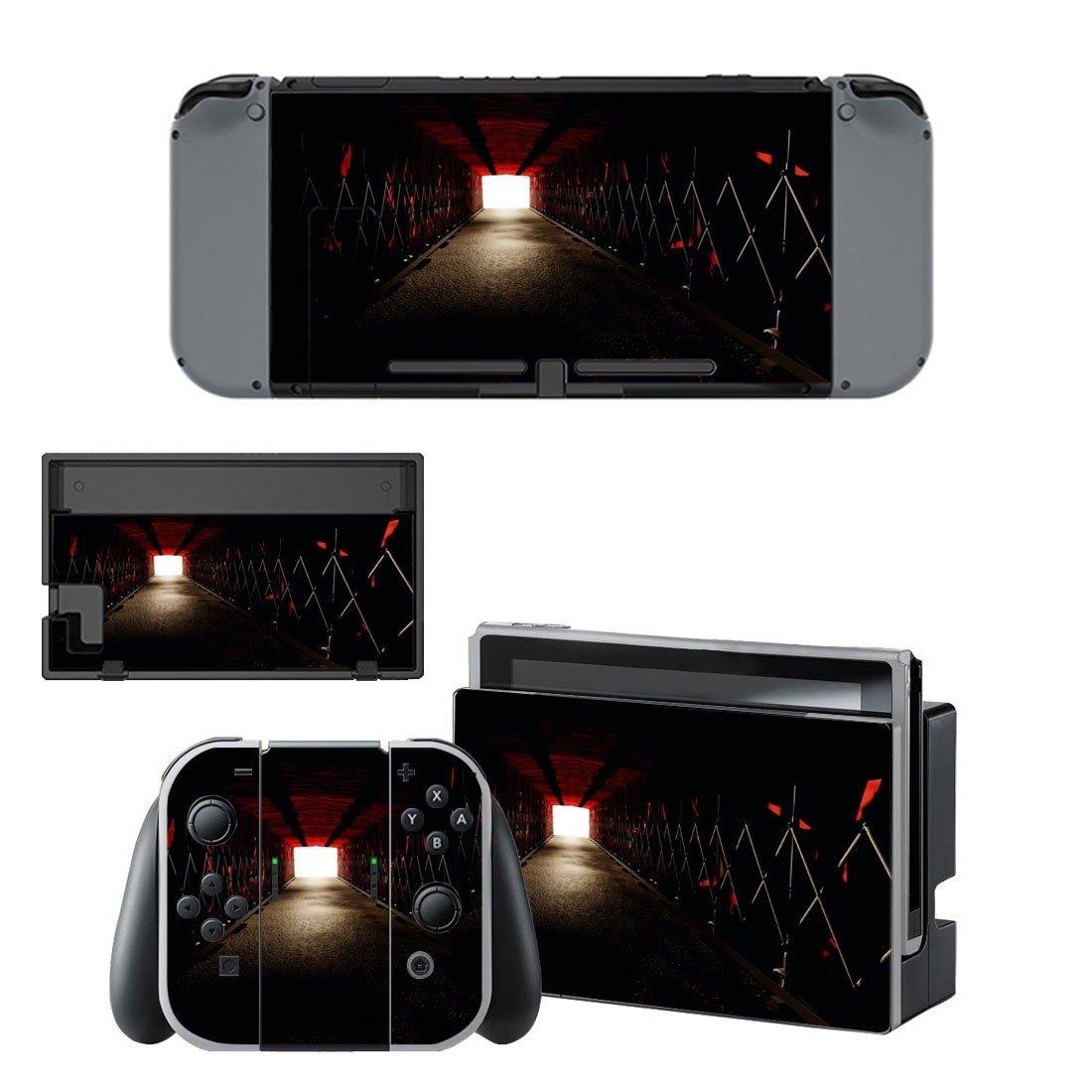 Dark steel path decal for Nintendo switch console sticker skin