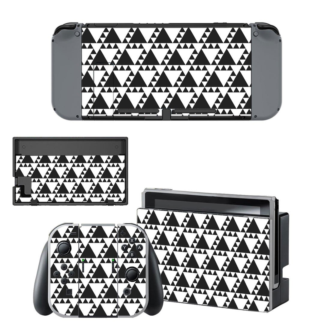 Traingle pattern decal for Nintendo switch console sticker skin