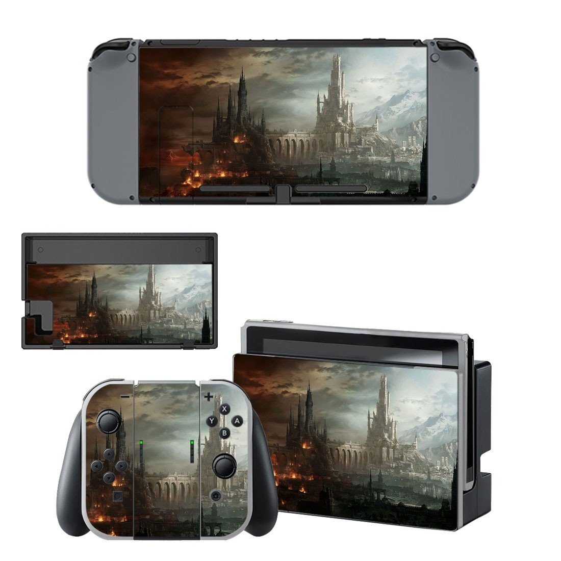 Destruction city decal for Nintendo switch console sticker skin