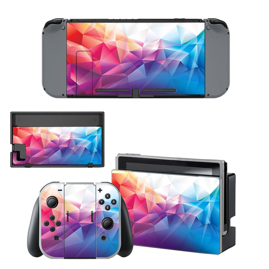 Geomatric pattern decal for Nintendo switch console sticker skin