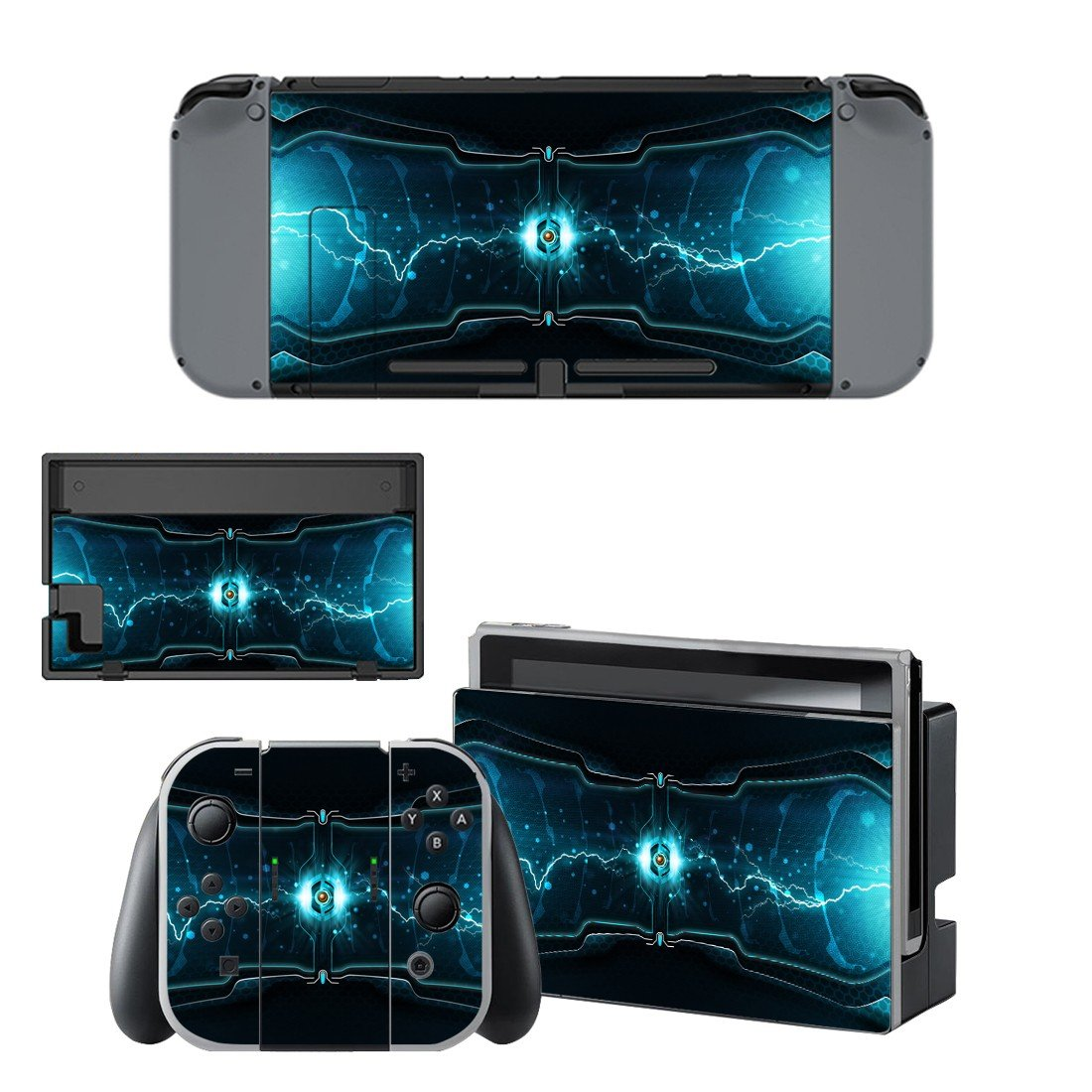 Cylinder spark decal for Nintendo switch console sticker skin