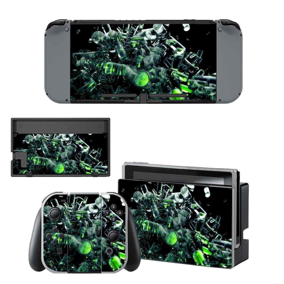Bottle abstract decal for Nintendo switch console sticker skin