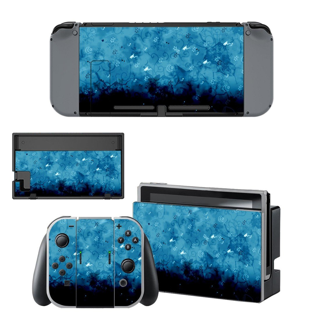 Star Moon clipart decal for Nintendo switch console sticker skin