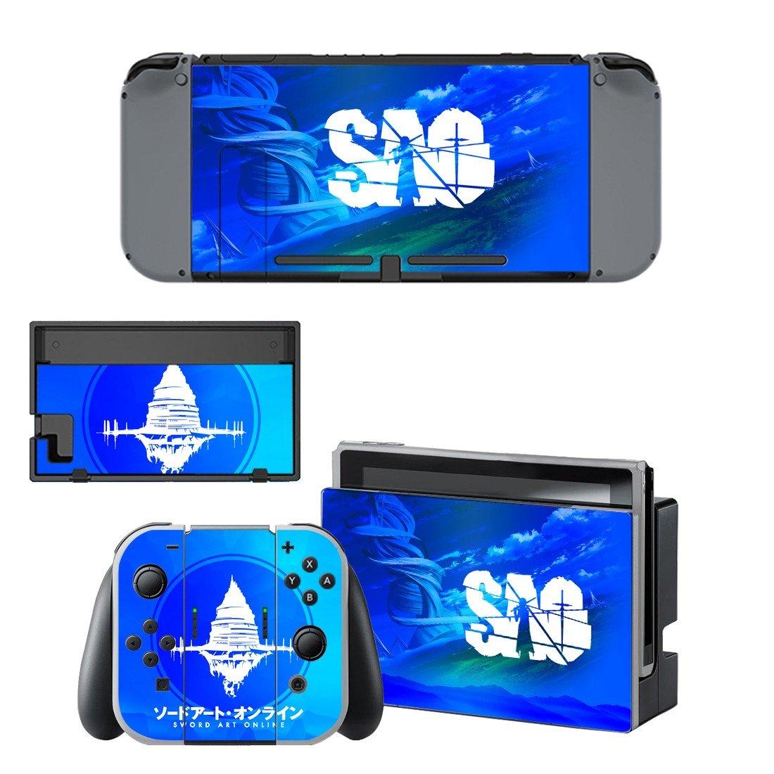 Sword art online decal for Nintendo switch console sticker skin